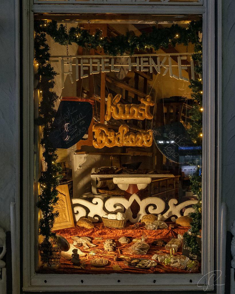 Schaufenster vom Bäcker in der Altstadt